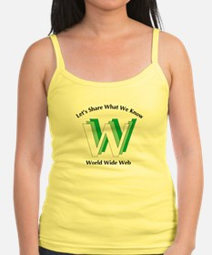 WWW Lets Share What We Know Ladies Top