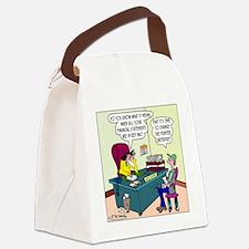 7885_accounting_cartoon Canvas Lunch Bag