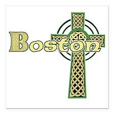 """boston-celtic-cross Square Car Magnet 3"""" x 3"""""""