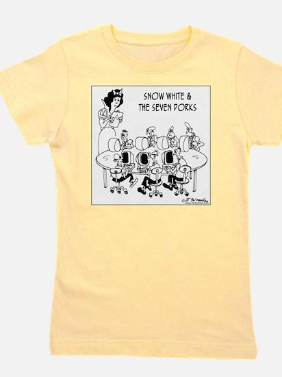 6764_computer_cartoon Girl's Tee