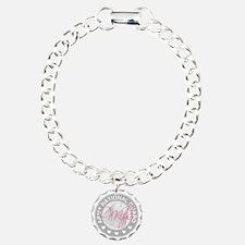 ARNGWifeLogoGrey Charm Bracelet, One Charm