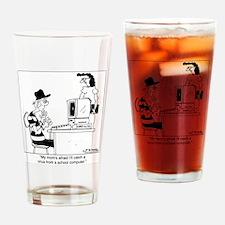 5208_computer_cartoon_JAC Drinking Glass