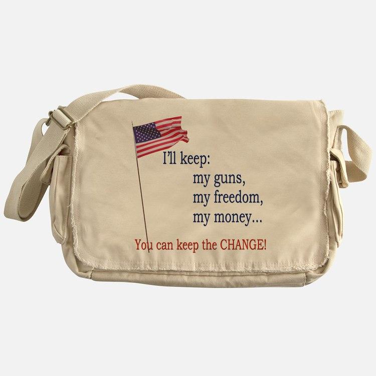 Keep-The-Change-T-Shirt Messenger Bag