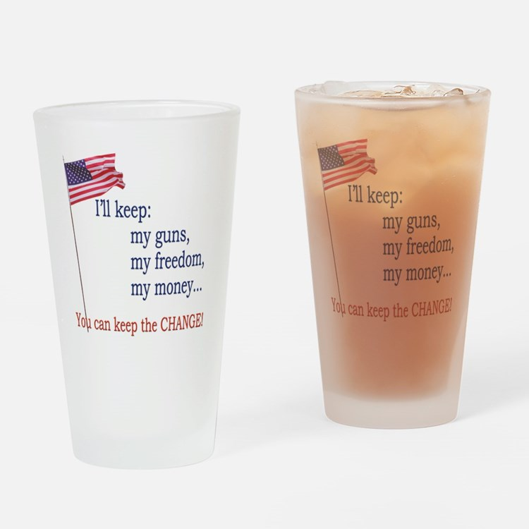 Keep-The-Change-T-Shirt Drinking Glass