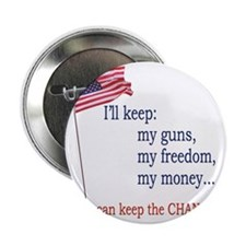 """Keep-The-Change-T-Shirt 2.25"""" Button"""