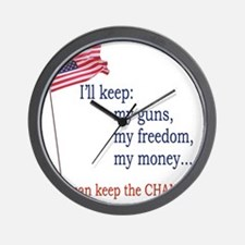 Keep-The-Change-T-Shirt Wall Clock