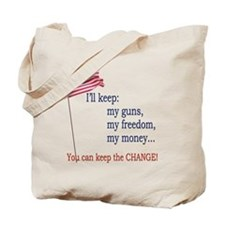 Keep-The-Change-T-Shirt Tote Bag