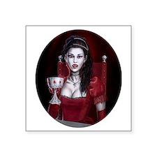 "countess oval Square Sticker 3"" x 3"""