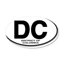dc-oval Oval Car Magnet