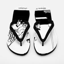 3441_chicken_cartoon Flip Flops