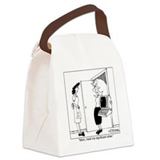 4453_relationship_cartoon Canvas Lunch Bag