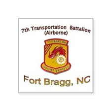 "7th Transportation Bn Square Sticker 3"" x 3"""