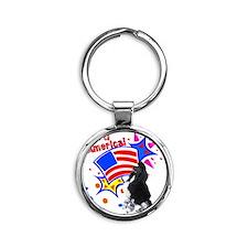 PartiAmerica1 Round Keychain