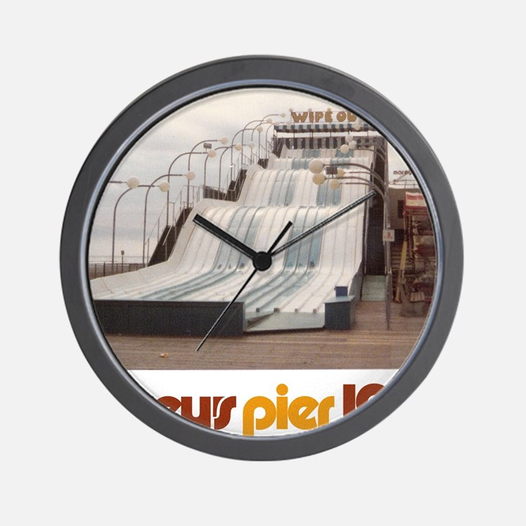moreys-pier-wipeout-1979 Wall Clock