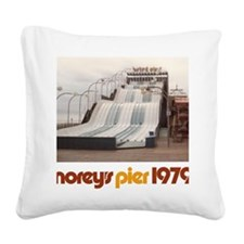 moreys-pier-wipeout-1979 Square Canvas Pillow