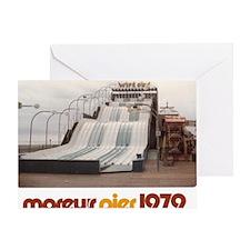 moreys-pier-wipeout-1979 Greeting Card