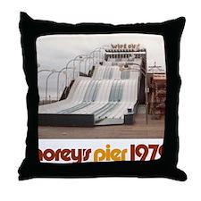 moreys-pier-wipeout-1979 Throw Pillow