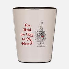 key_to_my_heart_10x10_4dark Shot Glass