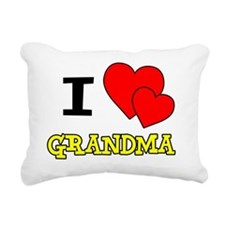 I Love Grandma Baby Shir Rectangular Canvas Pillow