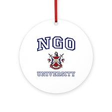 NGO University Ornament (Round)