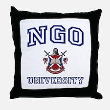 NGO University Throw Pillow