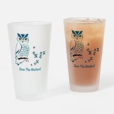 2-owl blueowl_bluets Drinking Glass