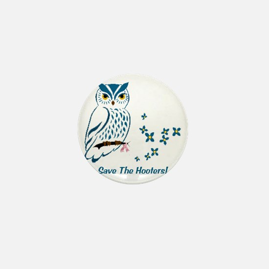 2-owl blueowl_bluets Mini Button