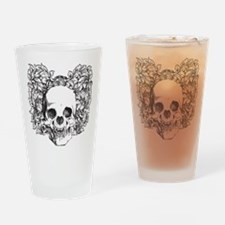 skullroses Drinking Glass