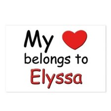 My heart belongs to elyssa Postcards (Package of 8