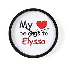 My heart belongs to elyssa Wall Clock
