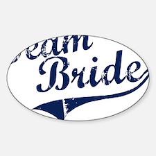 teambride_blue Sticker (Oval)