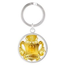 Gold2Germany1 Round Keychain