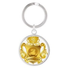 Gold3Germany1 Round Keychain