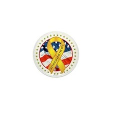 BLESS OUR TROOPS RIBBON Mini Button