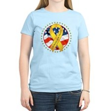 BLESS OUR TROOPS RIBBON T-Shirt