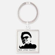 Kim-Jong-Illestbig Square Keychain