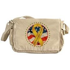BLESS OUR TROOPS RIBBON Messenger Bag