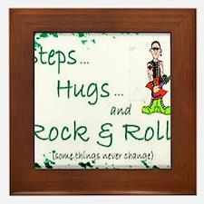 steps hugs rocker Framed Tile
