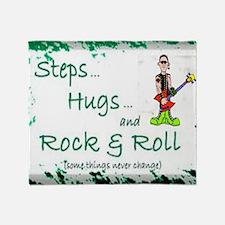 steps hugs rocker Throw Blanket