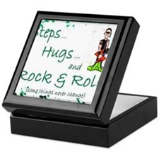 steps hugs rocker Keepsake Box