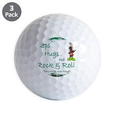 steps hugs rocker Golf Ball