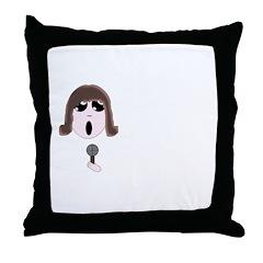 Chibi Singer Throw Pillow