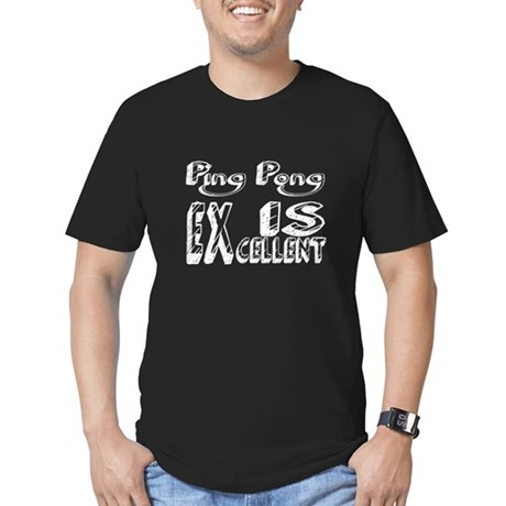 Ping Pong Is Excellent Men's Fitted T-Shirt (dark)