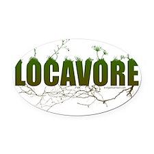 locavore Oval Car Magnet