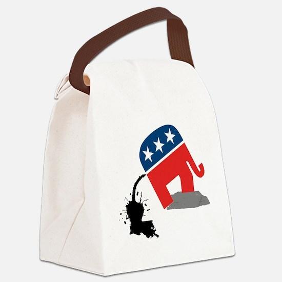 republican-logo-dump Canvas Lunch Bag
