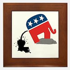 republican-logo-dump Framed Tile