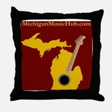 MMHPodcastMarooShirt Throw Pillow