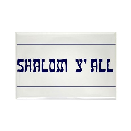 Shalom Y'all! Rectangle Magnet