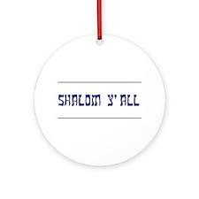 Shalom Y'all! Keepsake Ornament