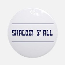 Shalom Y'all! Keepsake Ornament